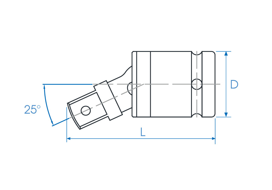 """1/2""""DR. Universal Joint - With Ball"""