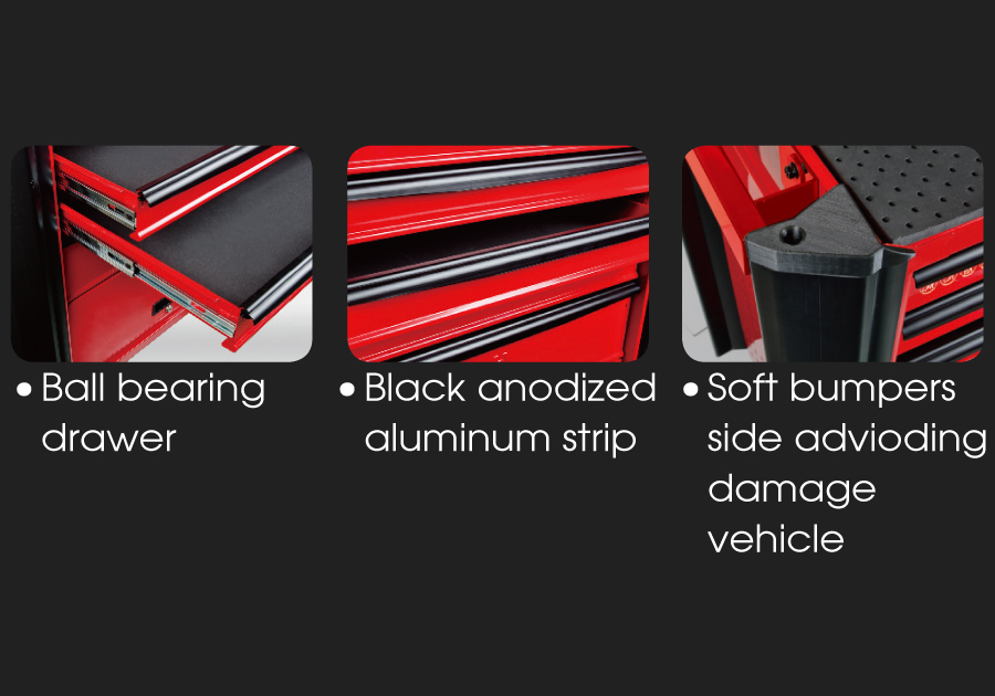 7 Drawers Classic Bumper type Tool Trolley